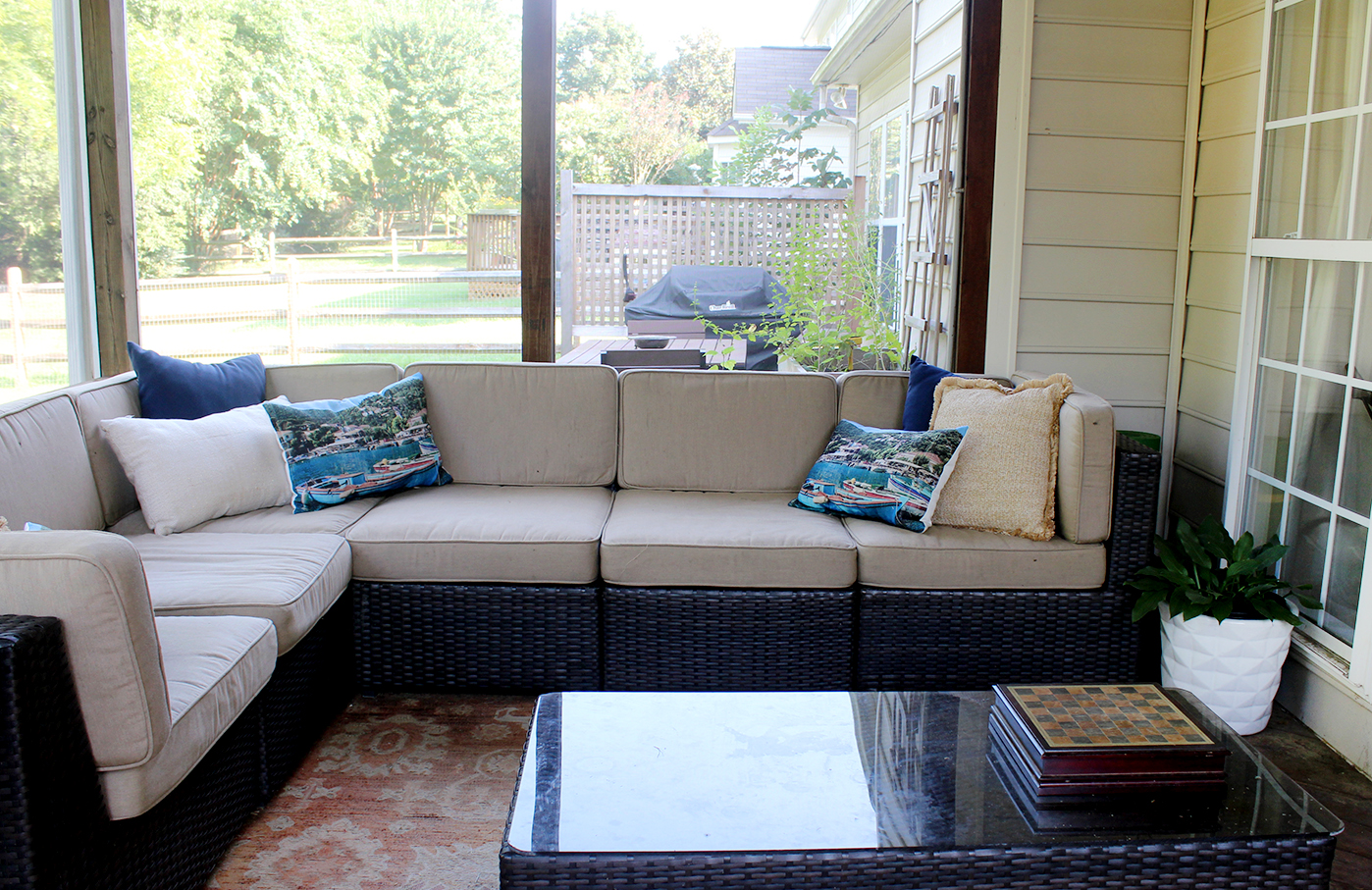 change in season | screened in porch