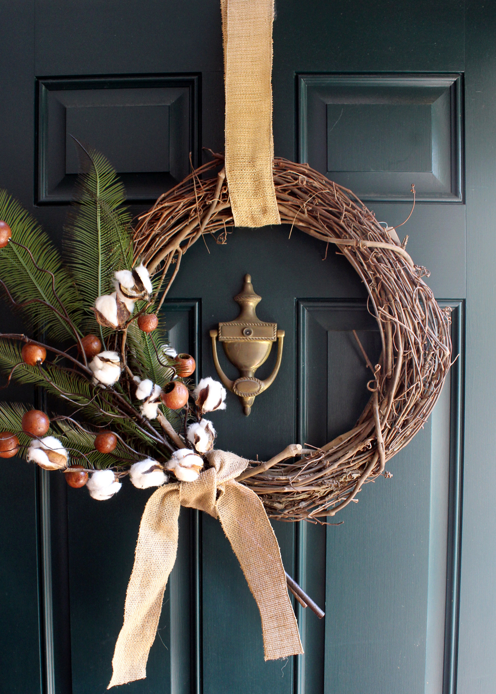 How to Make a Cotton & Berry Autumn Wreath