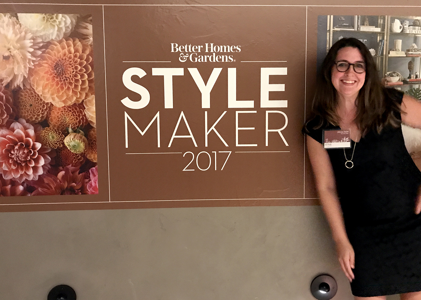 Julia Fain at cocktail hour at BHG Stylemaker 2017