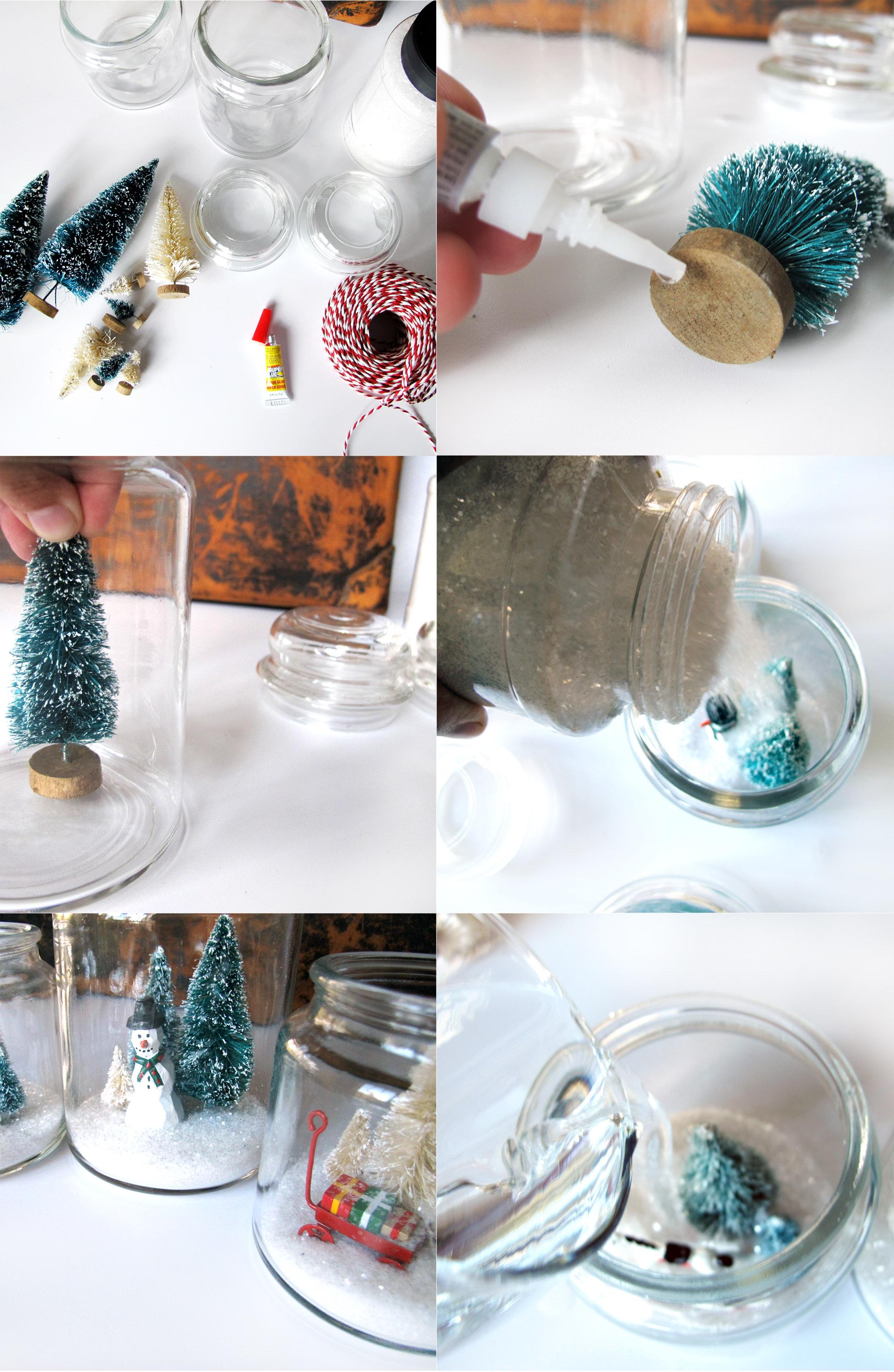 fun cookie jar snow globe DIY for Christmas