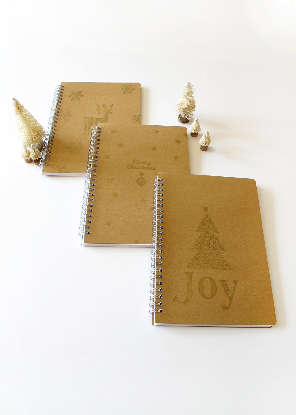 one step gold holiday notebooks DIY!