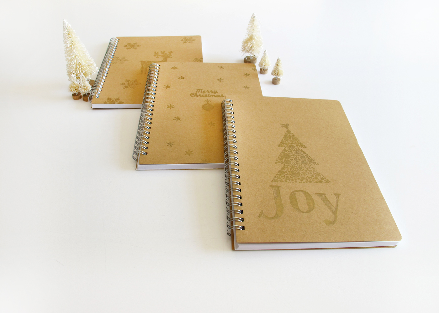 make custom gold notebooks for Christmas gifts this year
