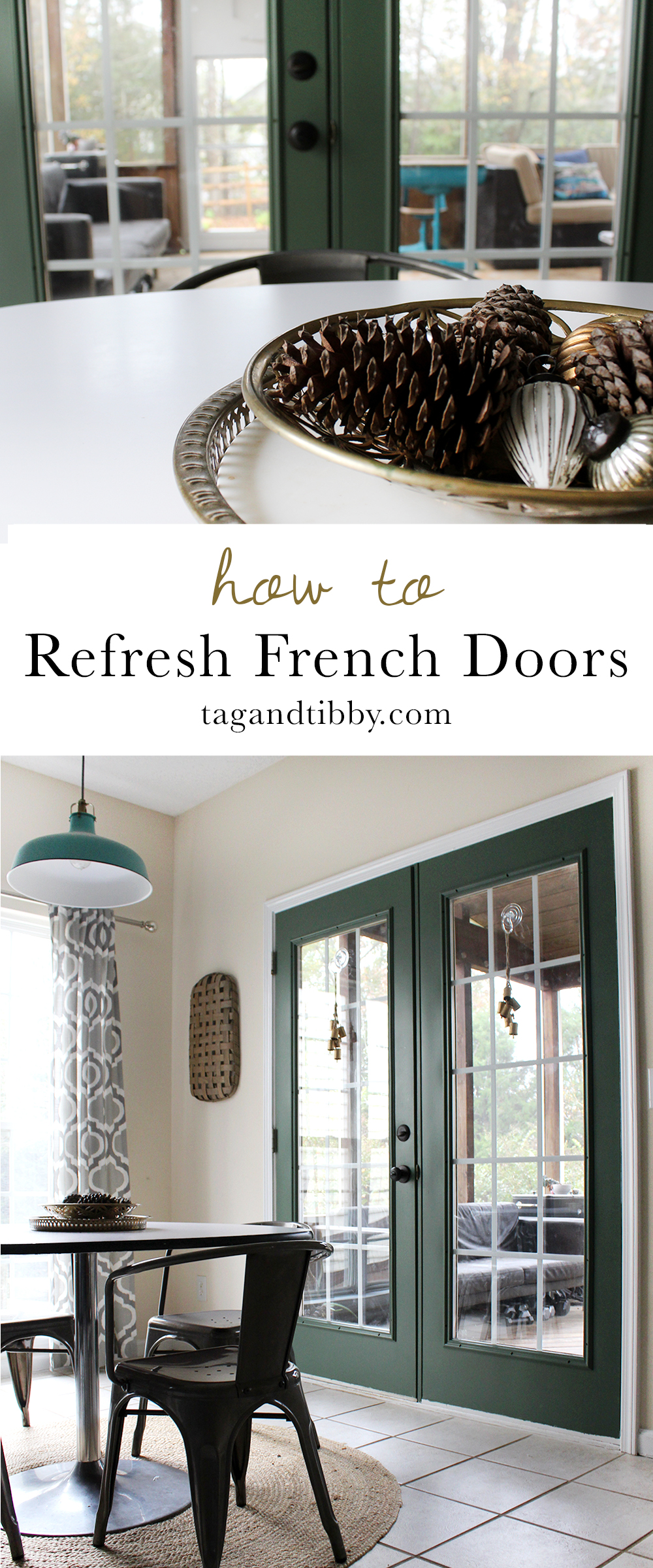 step by step guide for updating your french doors for under $80