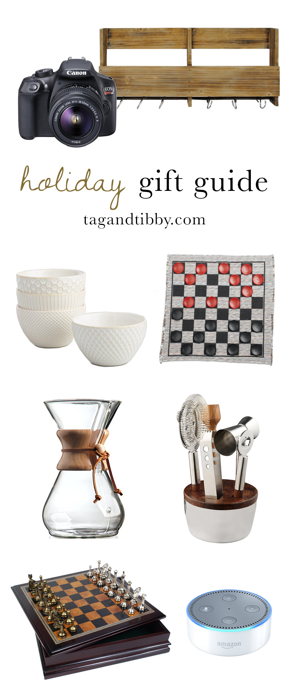 a household holiday gift guide from Tag & Tibby
