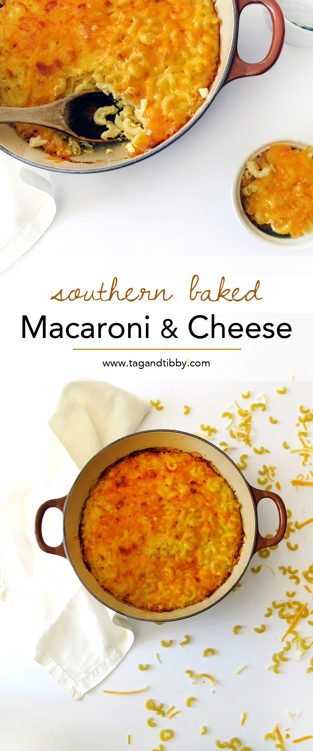 a delicious Southern baked mac & cheese recipe