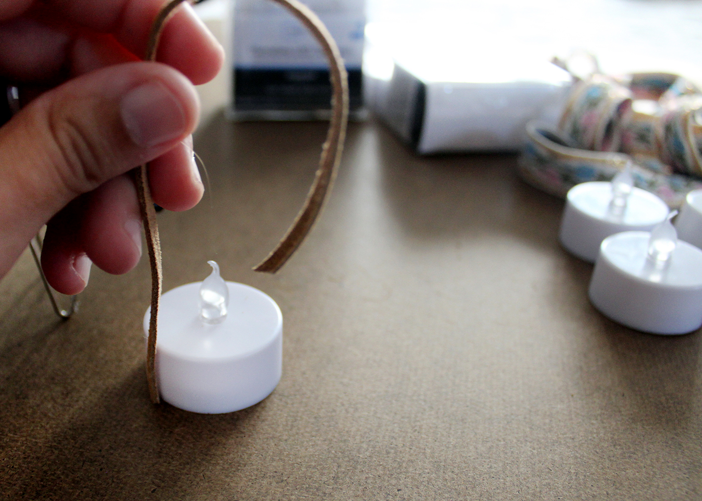 how to make mini tealight ornaments, a step by step tutorial