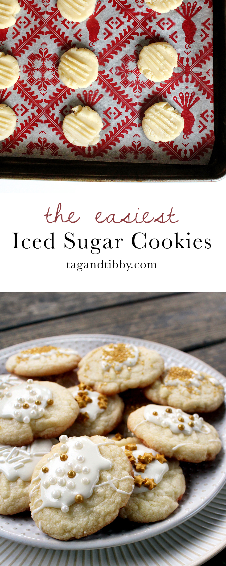 the easiest iced sugar cookies recipe with sprinkles