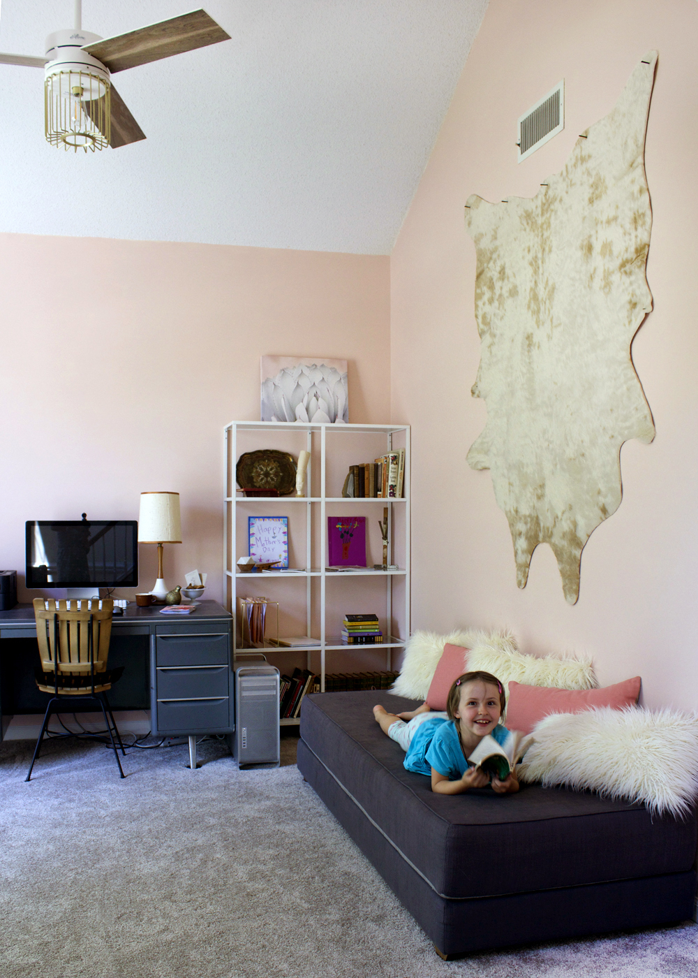 Blush Pink Home Office