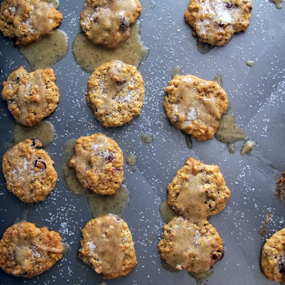 spiced oatmeal cookies with brown butter icing recipe