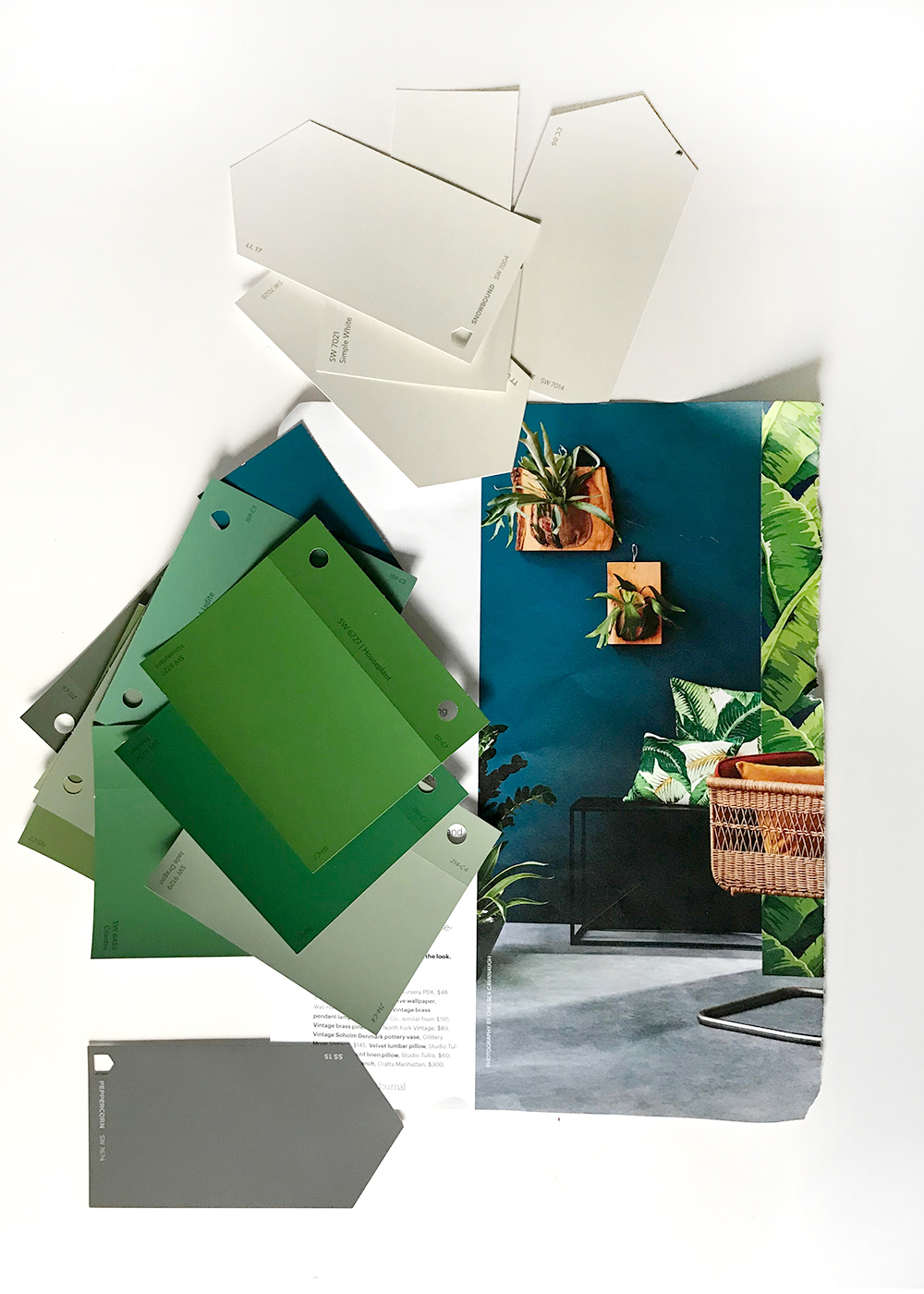 add the color green with paint! cheer up your walls this winter