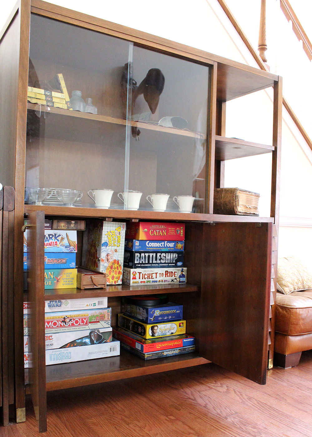 love that there is hidden storage for board games!