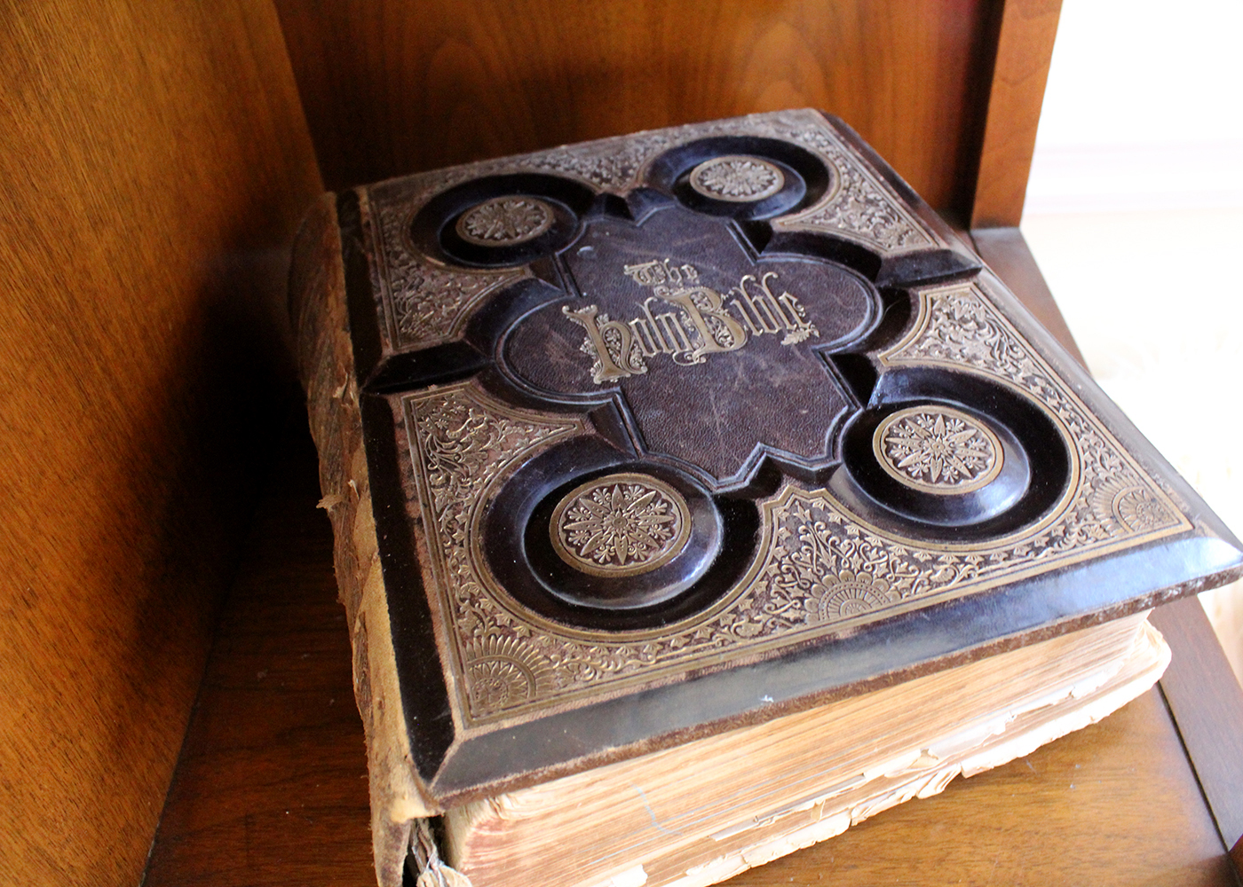 family Bible from the 1870s