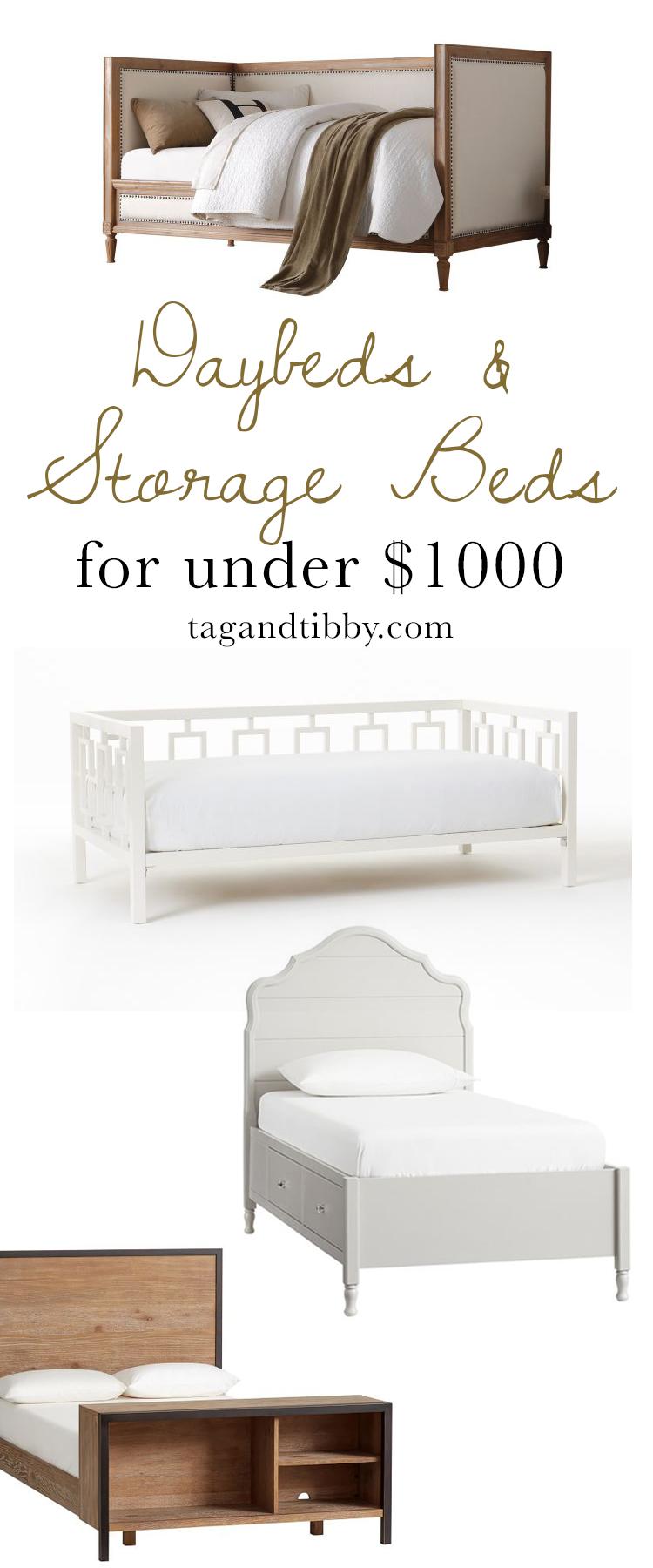 Daybeds & Storage Beds for Tweens priced under $1k