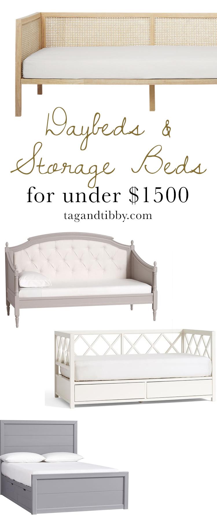 Daybeds & Storage Beds for Tweens priced under $1.5k