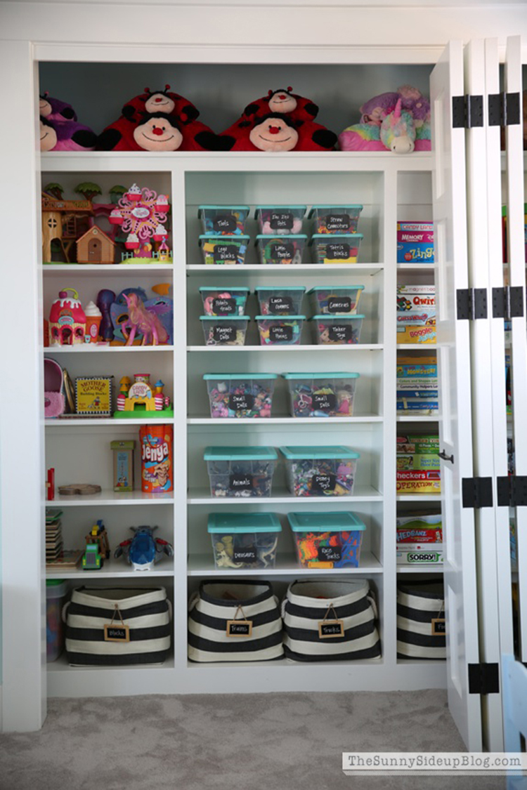 Organized Toys with Labels via Sunny Side Up
