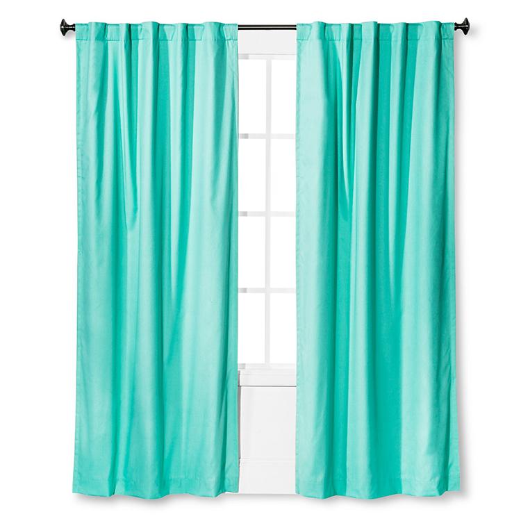 Aqua Blackout Curtain
