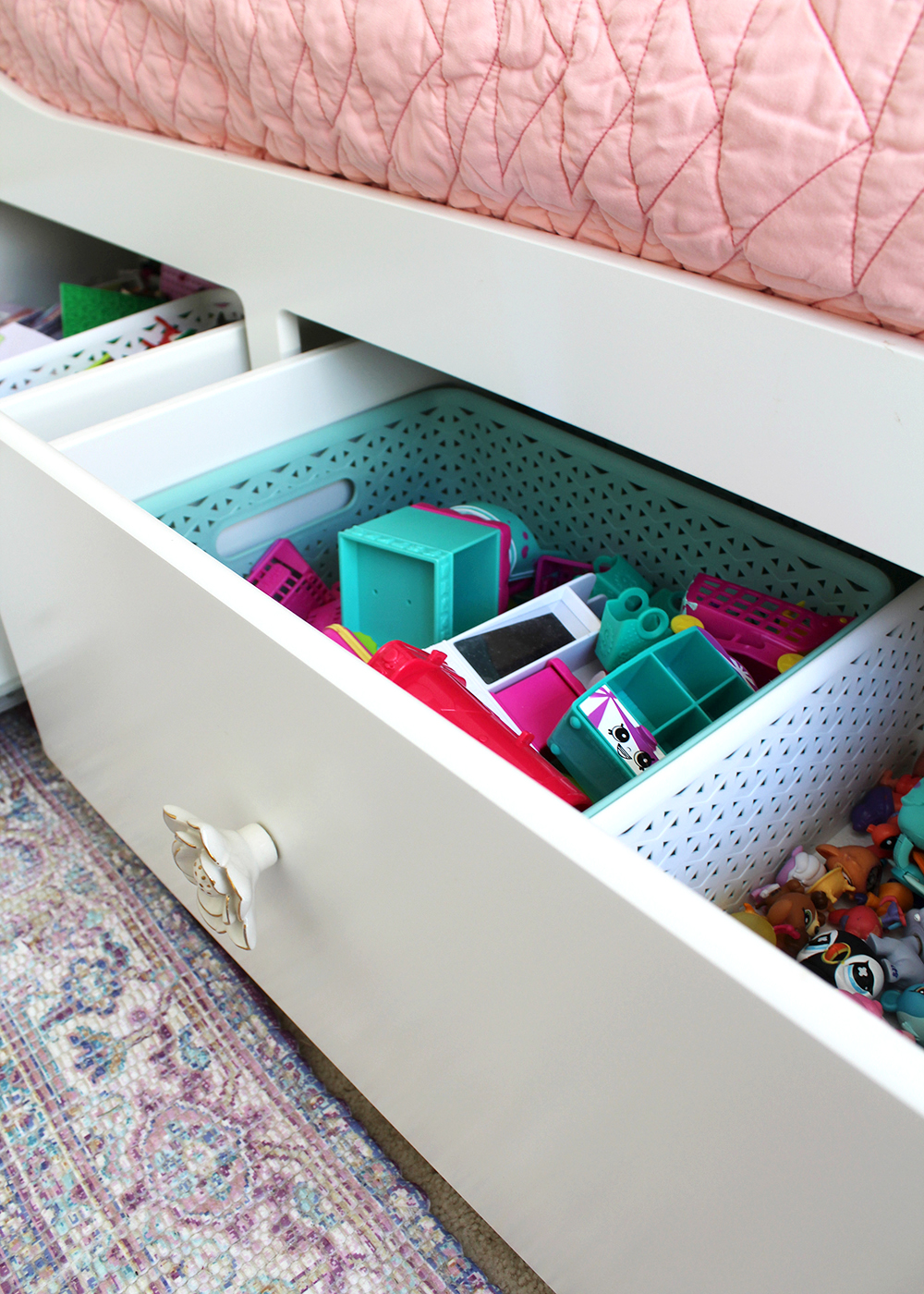 Hemnes storage daybed with organized drawers