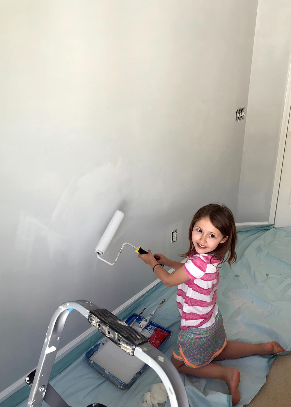 Eager helper painting SW Misty
