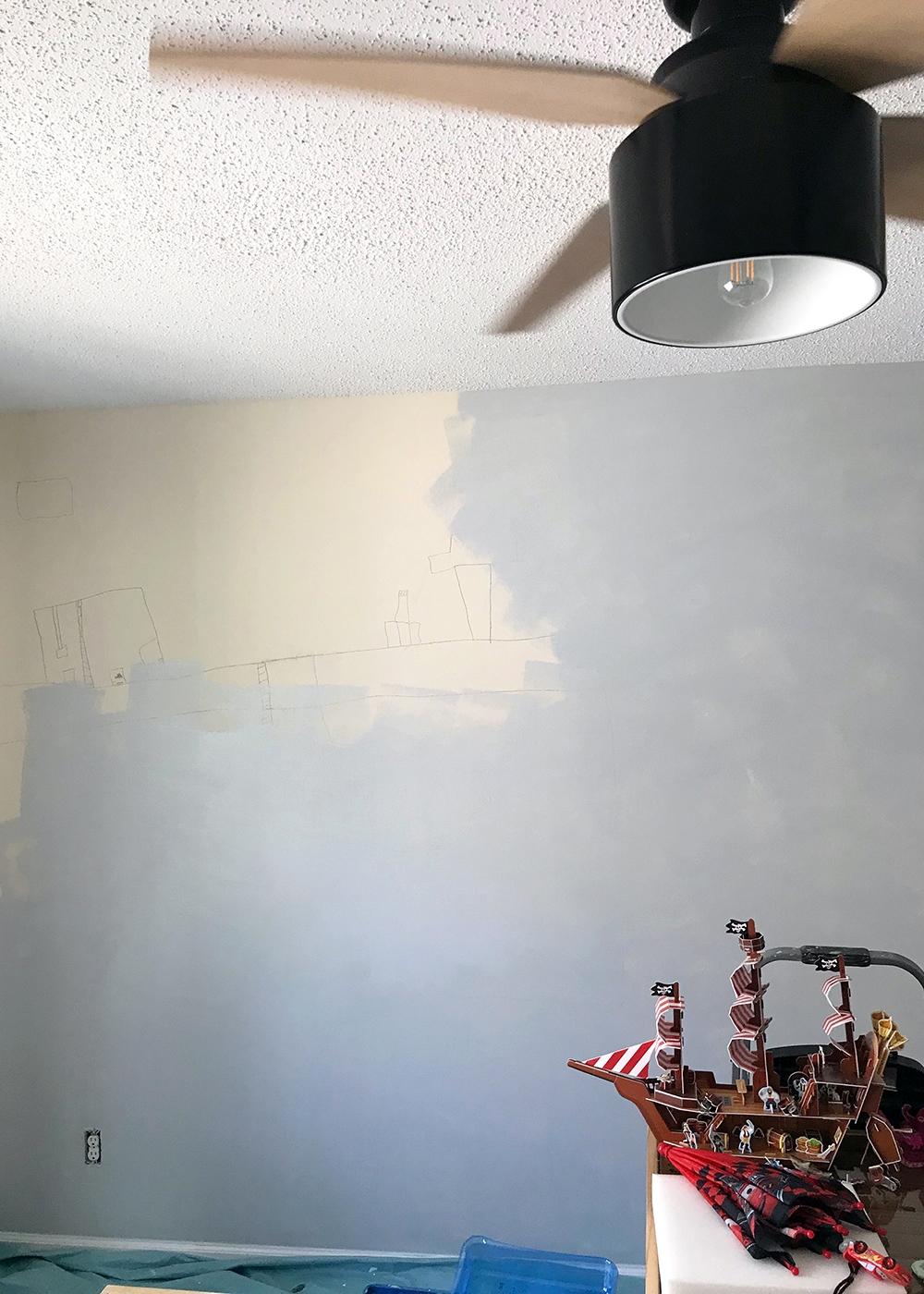 Sherwin-Williams paint covered his drawing in 1 coat