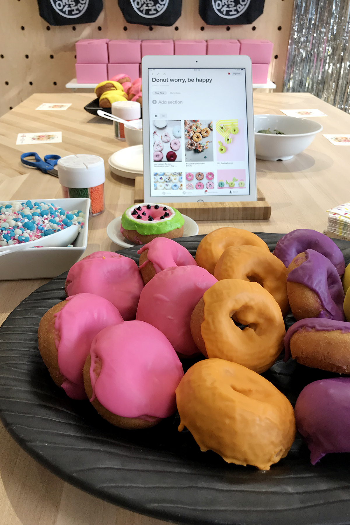 Donut Decorating Party, this would be fun for kids and adults #MyPinterest #Party #DonutParty