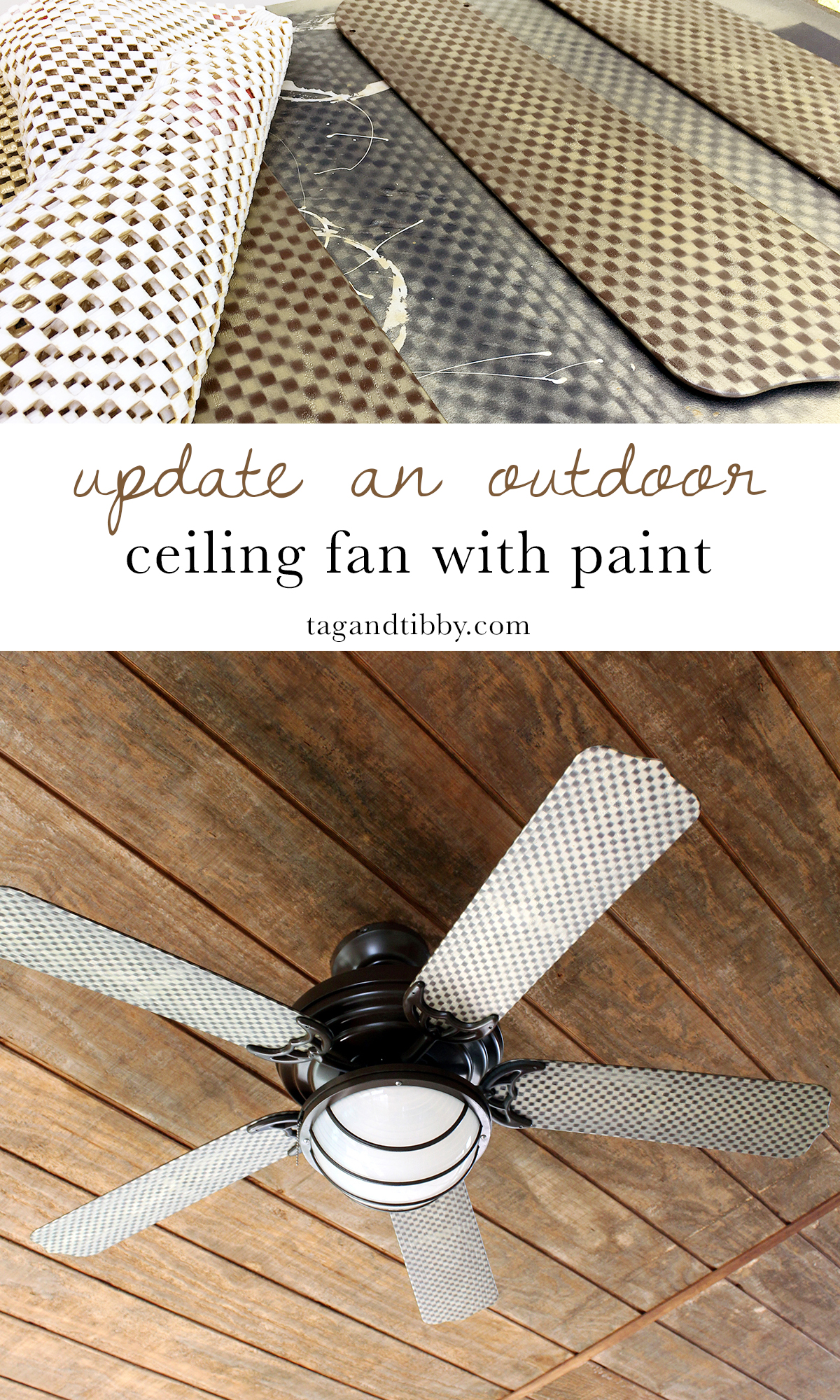 learn how to paint a ceiling fan for under $25! #upcycle #DIY #ceilingfan #spraypaint