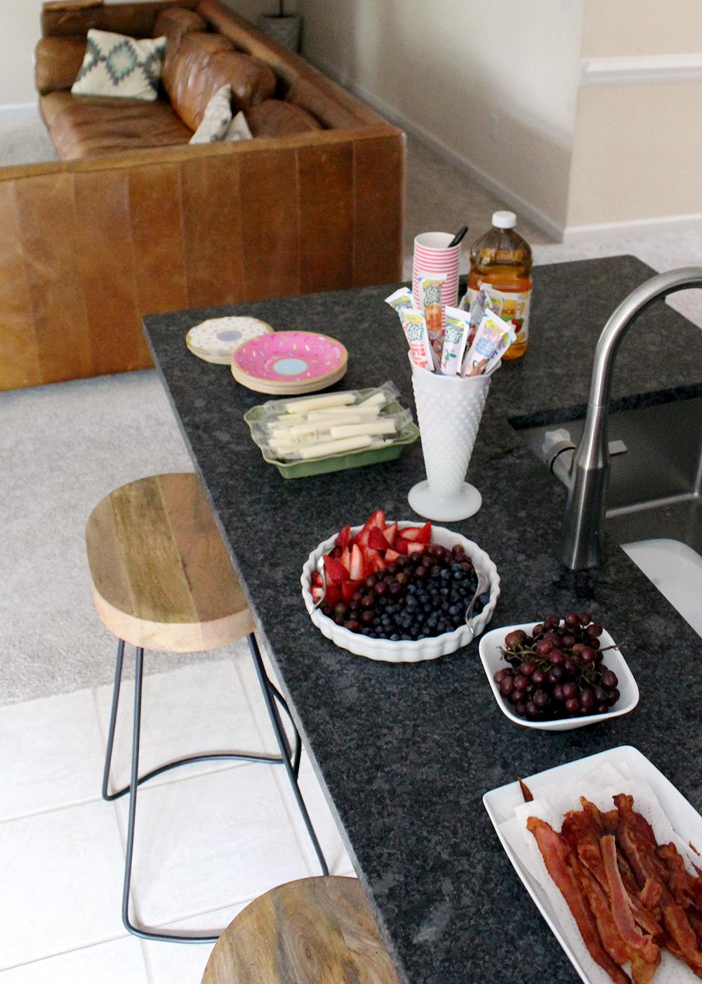birthday party breakfast snack ideas