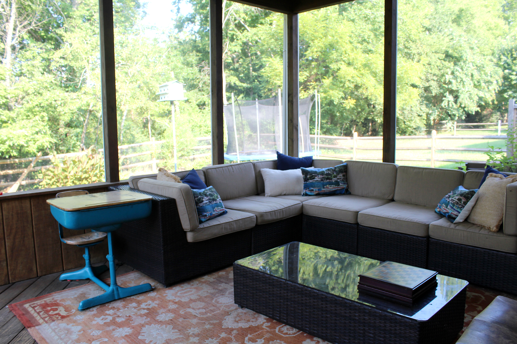 the porch last summer