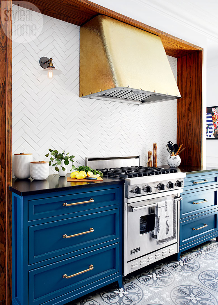 herringbone pattern tile via Style at Home