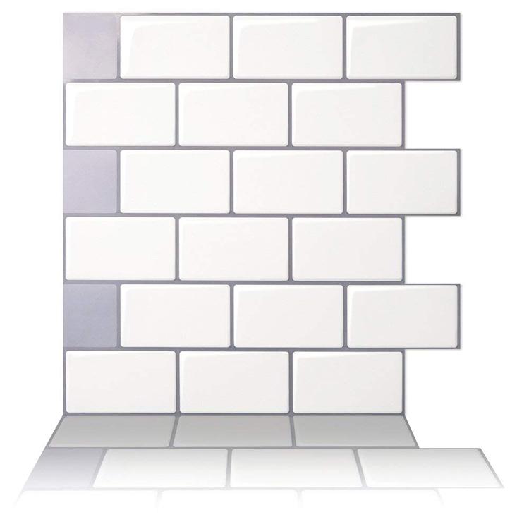 White Peel Stick Tile