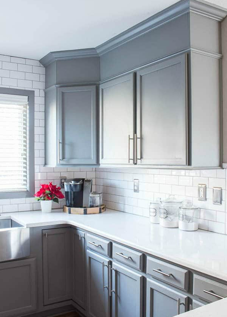 Add Height to Your Cabinets via Inspiration for Moms