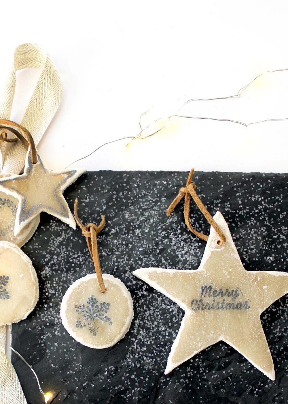 No-Bake Salt Dough Ornaments #holidayDIY #ChristmasOrnaments