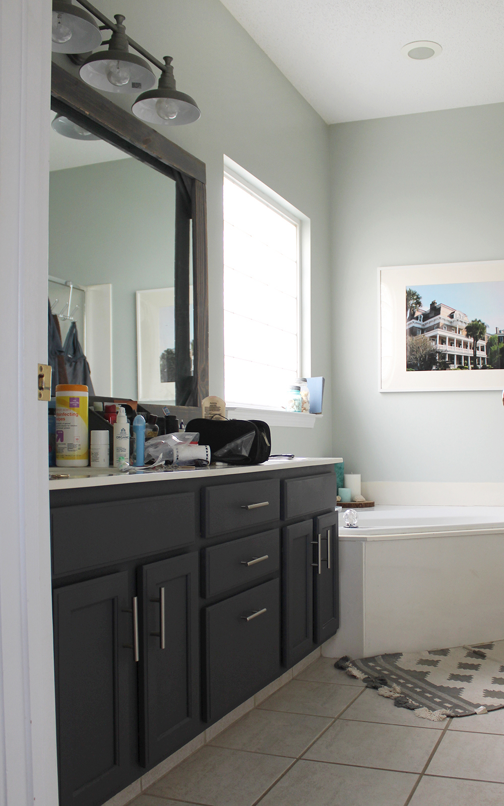 (before!) A Master Bathroom Refresh With Tuesday Morning #bathroom #ad
