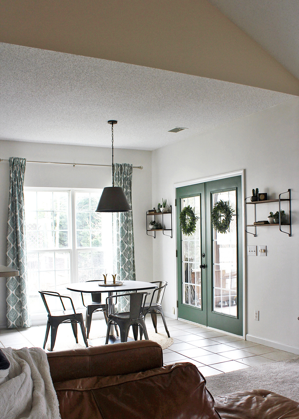 Before & After Global-Inspired breakfast nook on a small budget