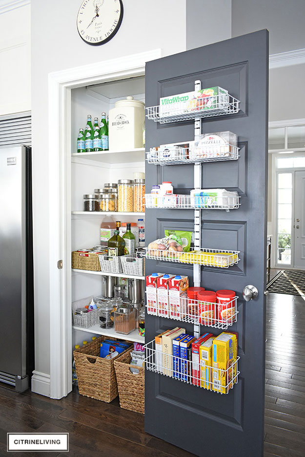 Modern Pantry with Baskets. Inspiration Source: Citrine Living
