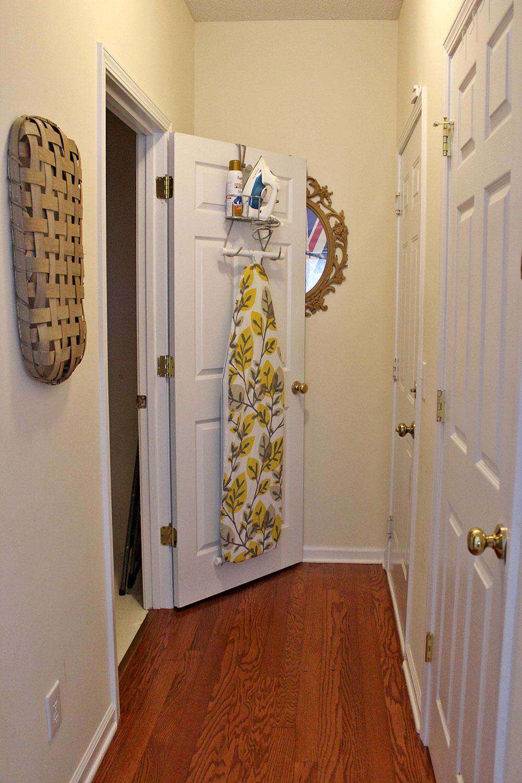 hallway leading to laundry room