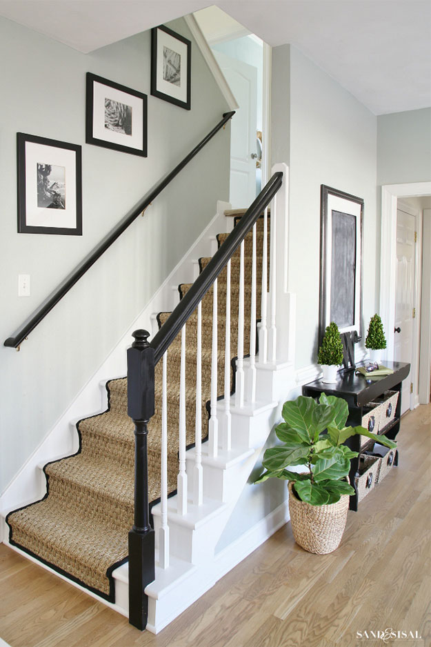 Painted Staircase. Inspiration Source: Sand & Sisal