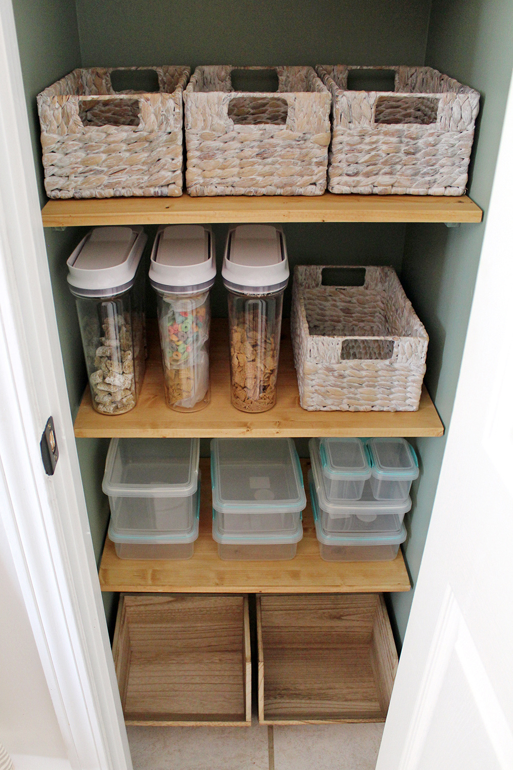 Plan before placing food back in the pantry