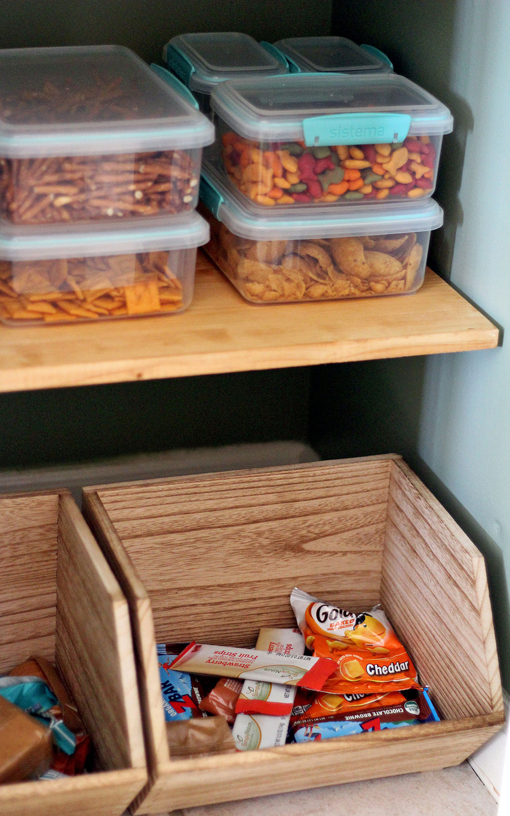 use containers that stack | practical tips for storing more in a kitchen pantry