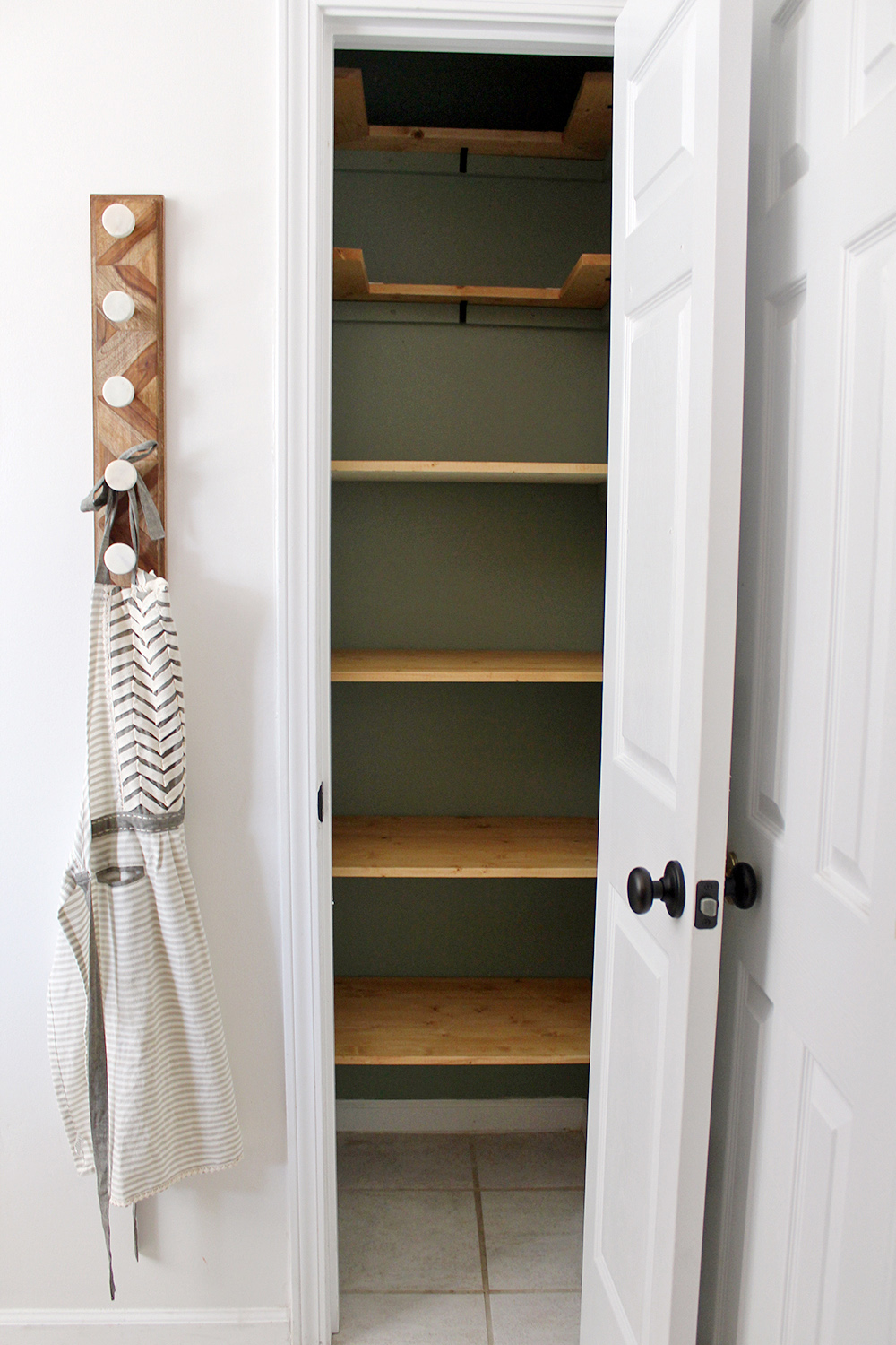 learn how to makeover your small kitchen pantry with this complete supply list & pictures