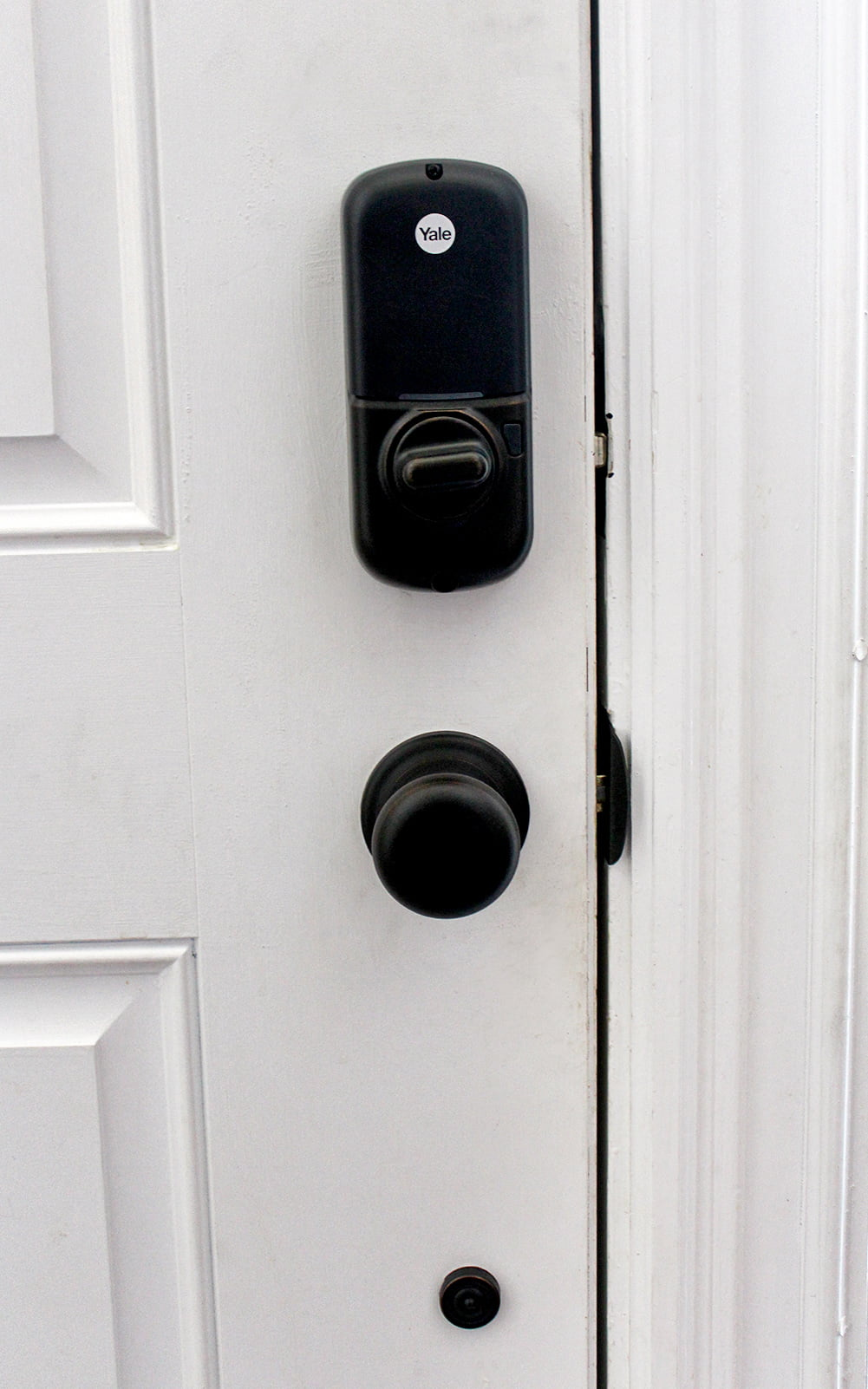 inside the door, keyless electric door lock