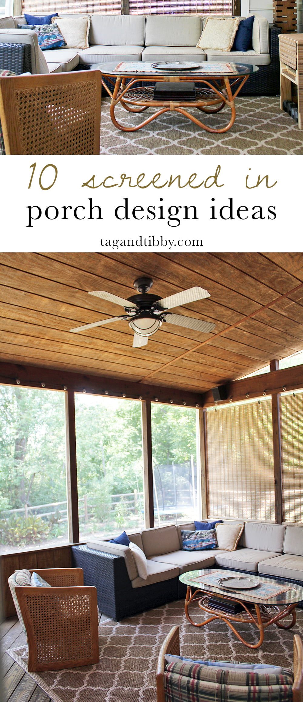 10 Screened In Back Porch Design Ideas #homedesign #spring #summer #porch #screenedporch