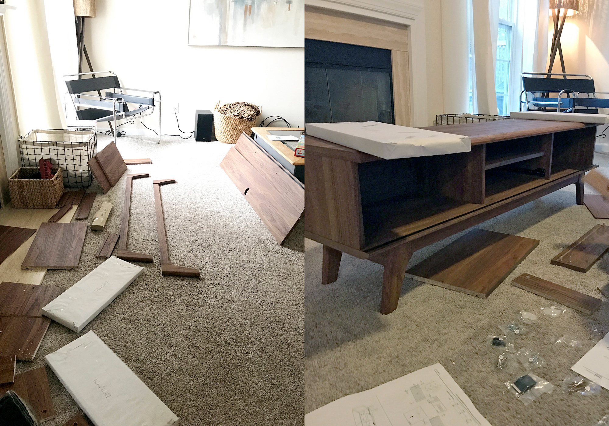 Assembling the Mid Century Style Console