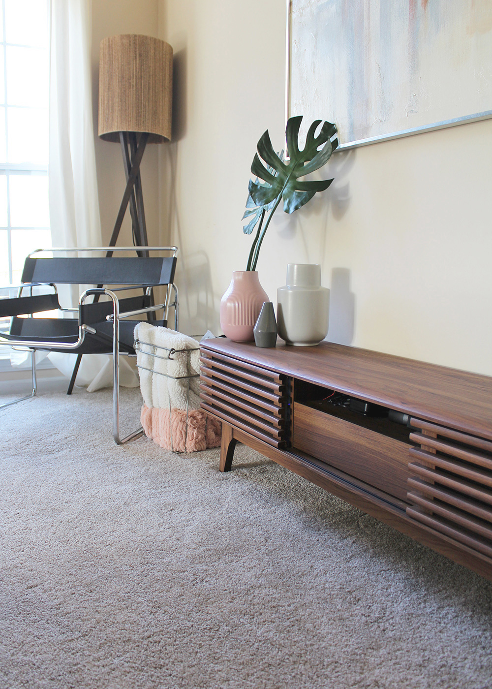 Hide Wires & Cords in the Living Room with this Console Table for under $200