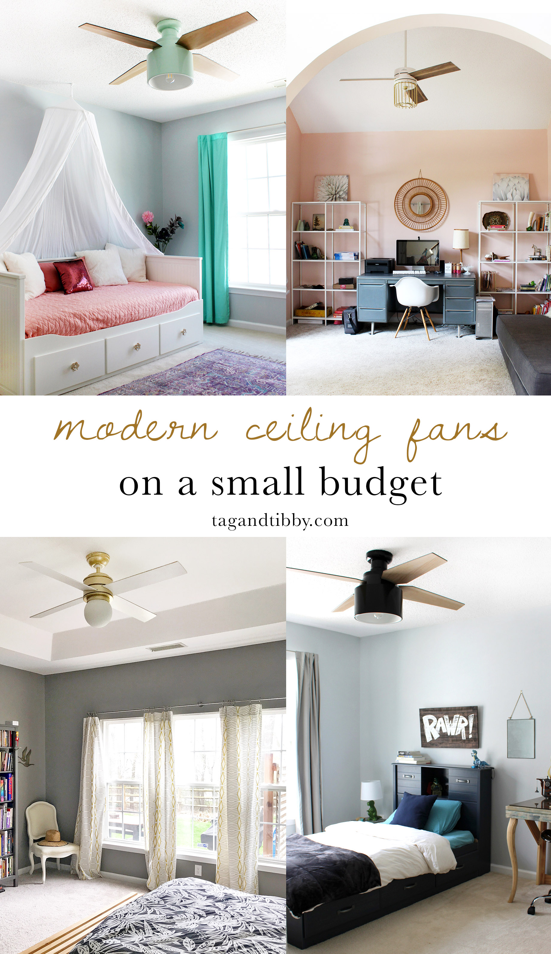 8 Modern Rustic Ceiling Fans For Under 250 Tag Tibby Design