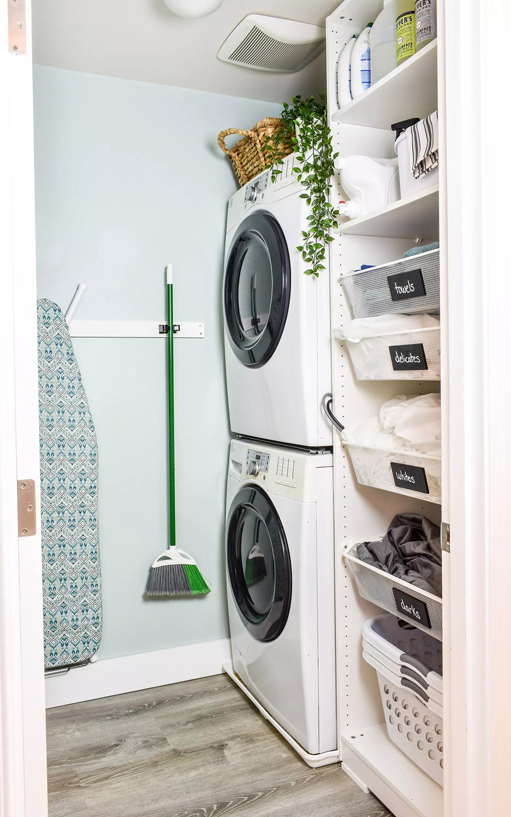 Stack the Washer & Dryer | Jessica Welling Interiors
