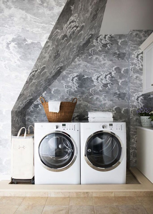 Install Wallpaper in a laundry room | The Zhush