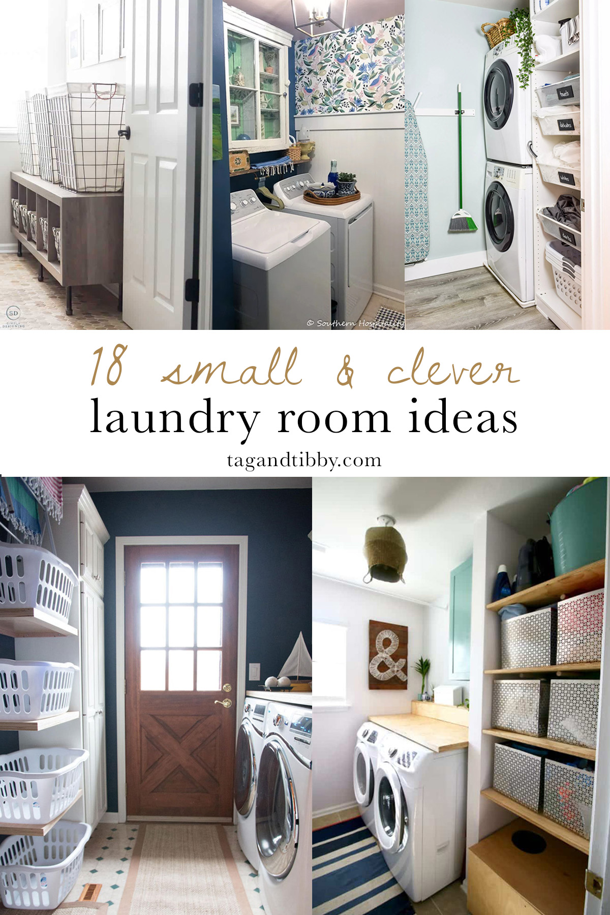 18 genius small laundry room makeover ideas for your home #homeimprovement #laundryroom #laundrycloset