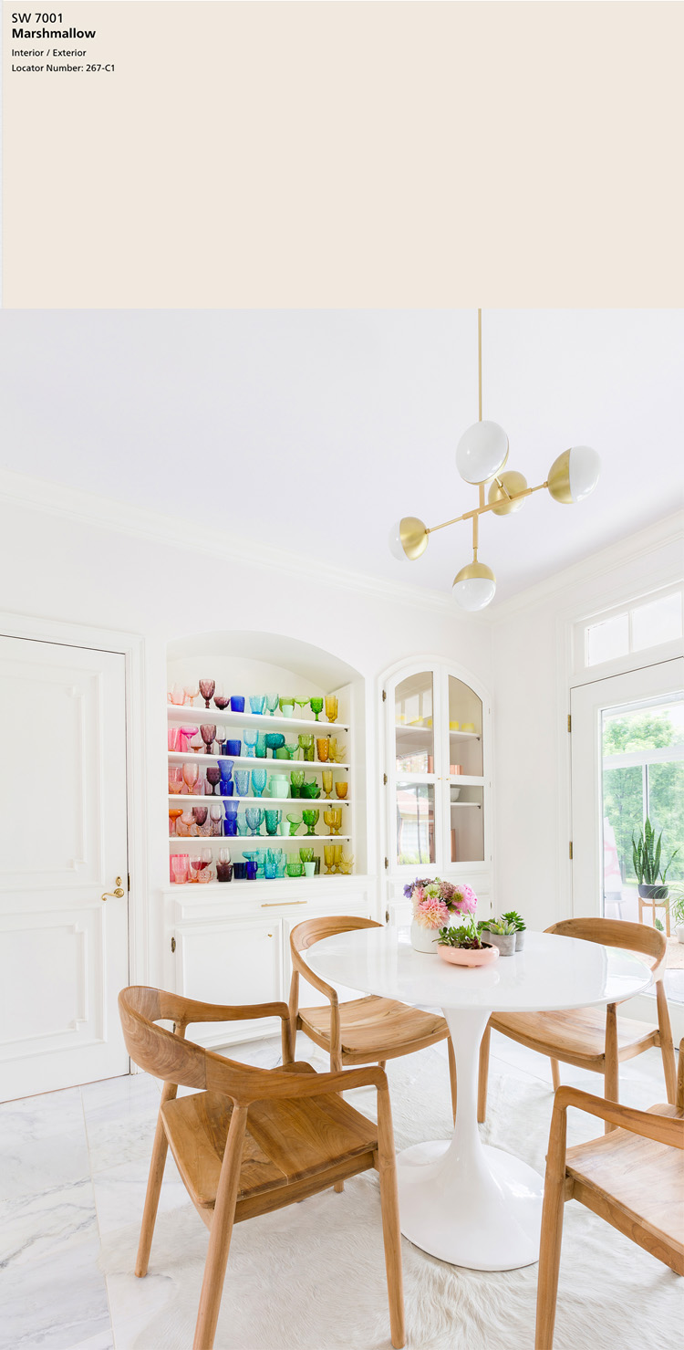 Sherwin-Williams Marshmallow SW 7001   10 best Sherwin-Williams White Paint Colors