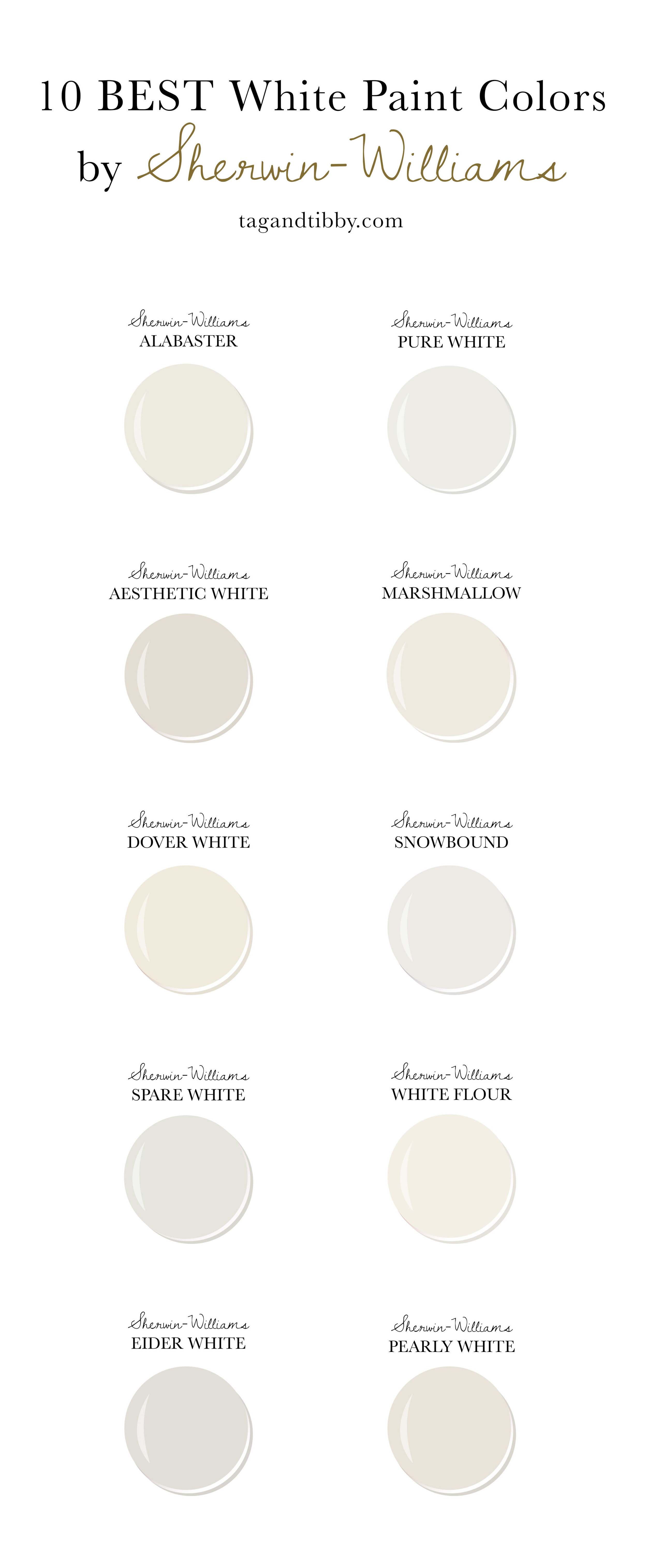 10 Best White Paint Colors By Sherwin Williams Tag Tibby Design,Bedroom Mint Green Combination Color