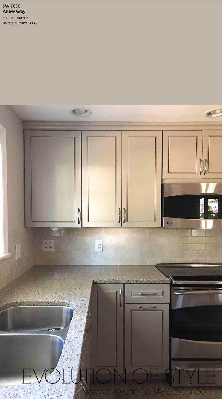sherwin williams dorian gray cabinets